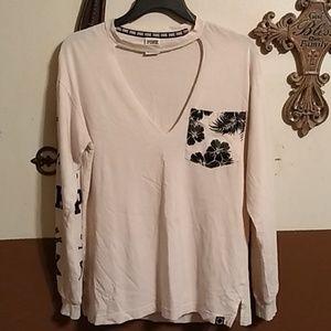 Pink cut out shirt